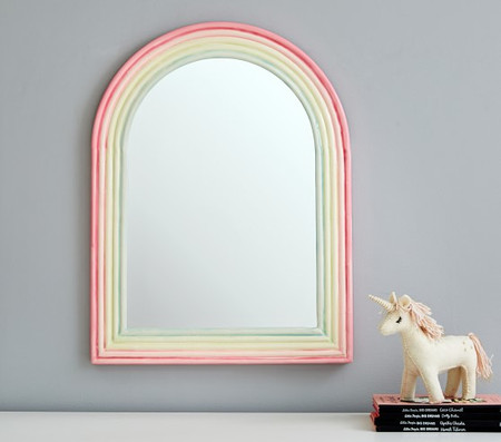 Rainbow Enamel Mirror