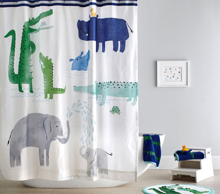 Safari Printed Shower Curtain