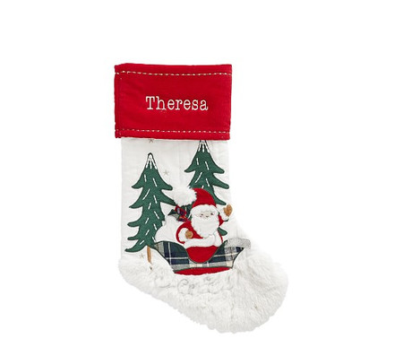 Santa Sleigh Heritage Stocking