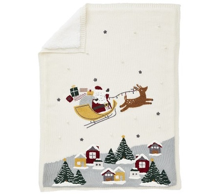 Scenic Santa Heirloom Baby Blanket