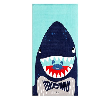 Shark Portrait Kids Beach Towel