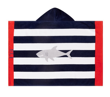 Shark Stripe Baby Beach Hooded Towel