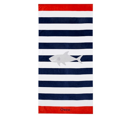 Shark Stripe Beach Towel