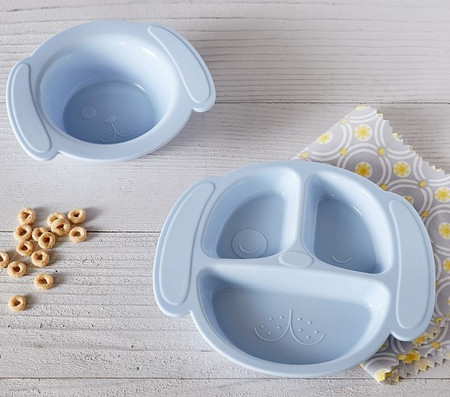 Silicone Dog Shaped Plate & Bowl