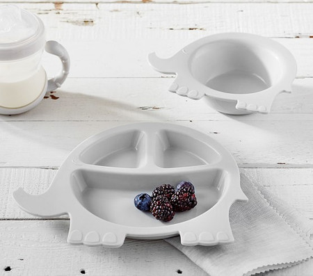 Silicone Elephant Shaped Plate & Bowl