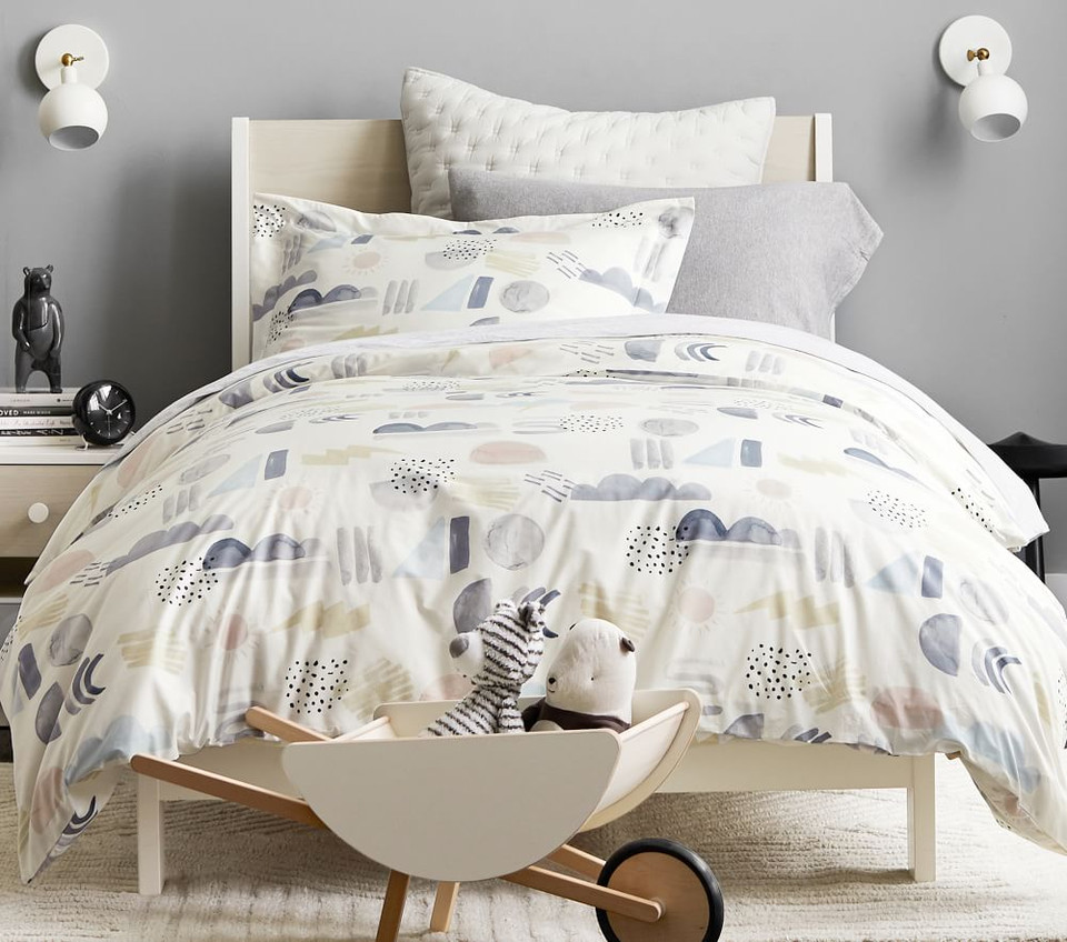 Organic Silly Shapes Duvet Cover