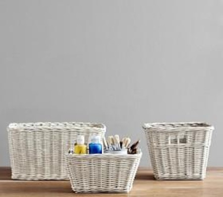 Sabrina Basket Collection, Simply White