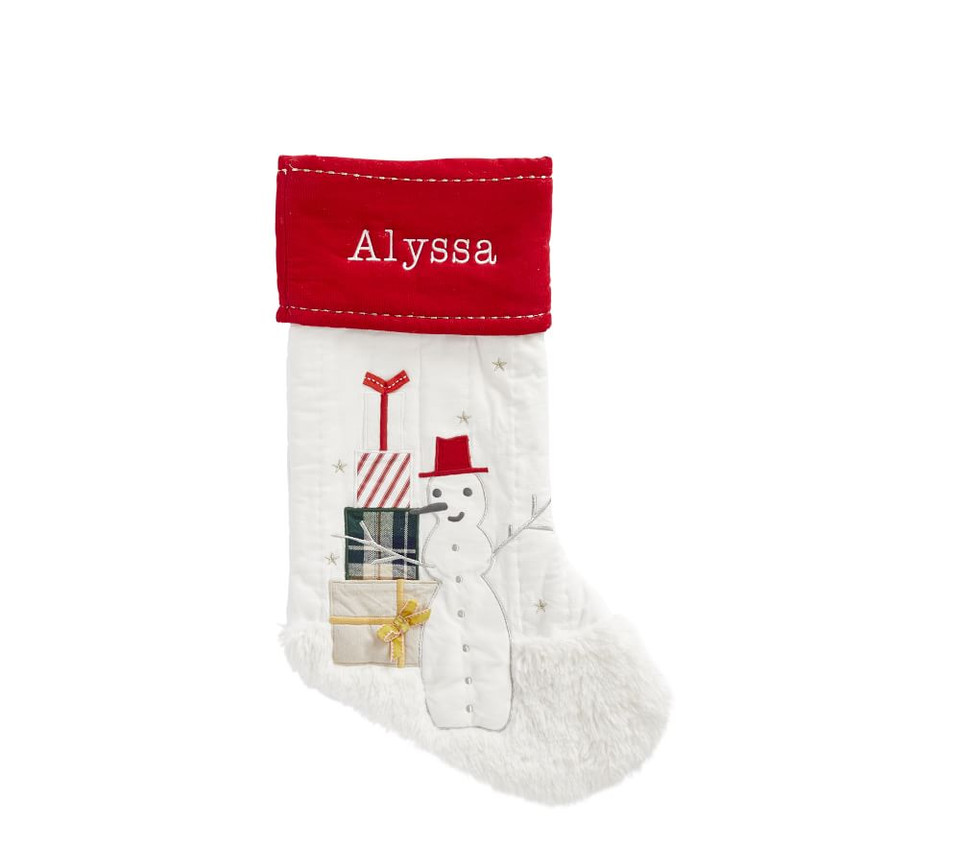 Snowman Heritage Stocking