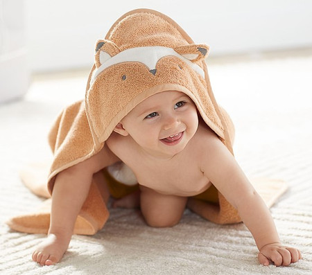 Super Soft Fox Hooded Towel & Wash Cloth