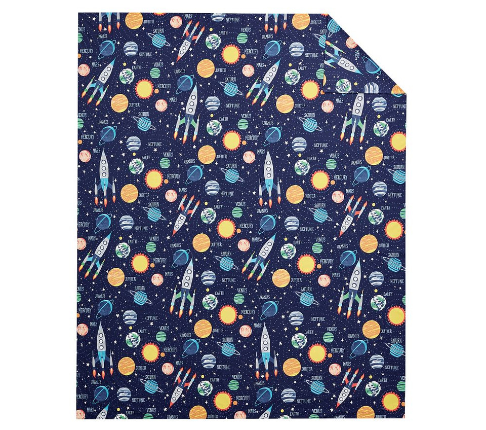 Solar System Glow-in-the-Dark Quilt Cover