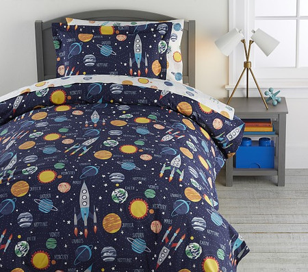 Solar System Glow-in-the-Dark Duvet Cover