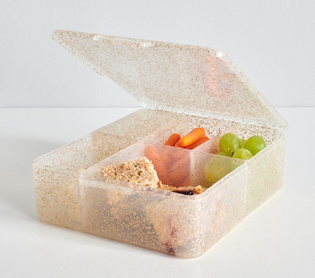 Spencer Gold Glitter Bento Box Container