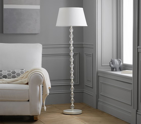 Stacked Crystal Floor Lamp