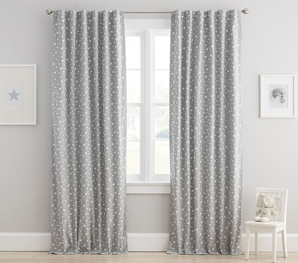Star Printed Blackout Curtain
