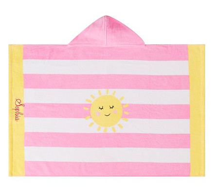 Sunshine Stripe Baby Beach Hooded Towel
