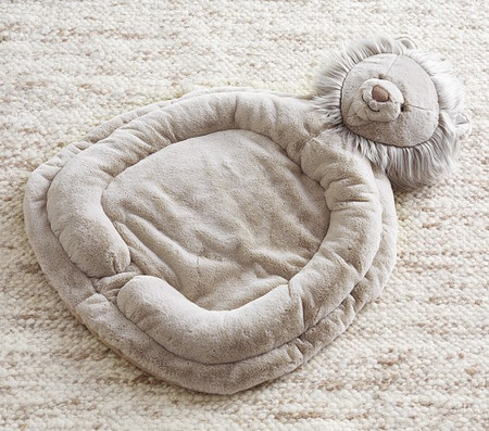 Taupe Lion Interactive Plush Playmat