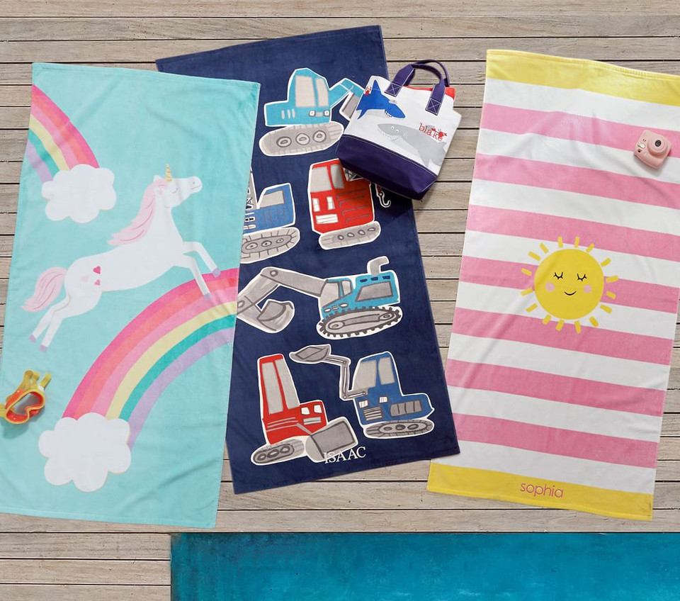 Unicorn Rainbow Beach Towel