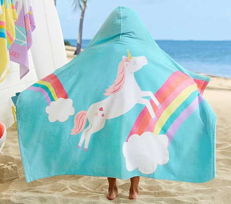 Unicorn Rainbow Beach Wrap