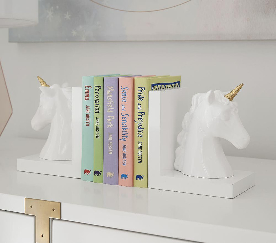 Unicorn Shaped Bookends