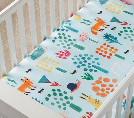 west elm x pbk Organic Woodland Cot Fitted Sheet