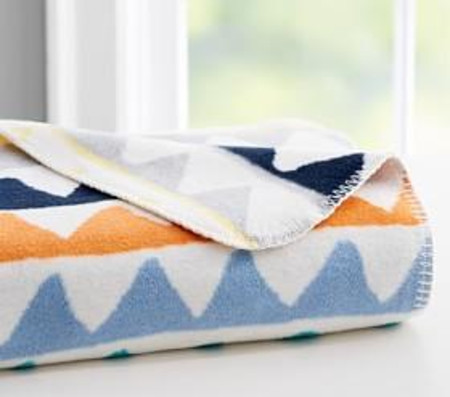 west elm x pbk Triangle Train Blanket