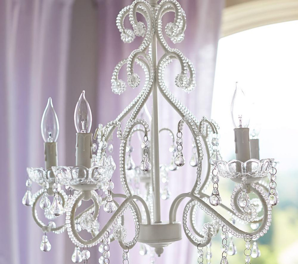 White Lydia Chandelier