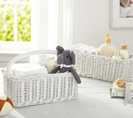 Sabrina Nappy Caddy, Simply White