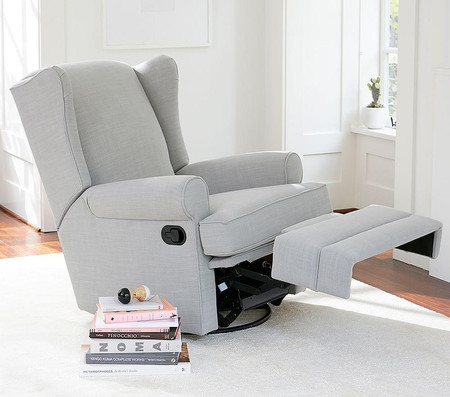 Wingback Glider Recliner Pottery, Toddler Recliner Rocking Chair