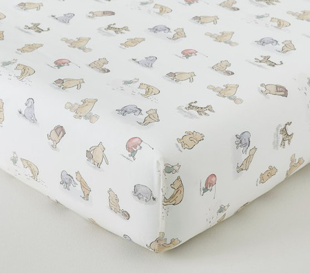 Organic Disney Winnie the Pooh Allover Icon Crib Fitted Sheet