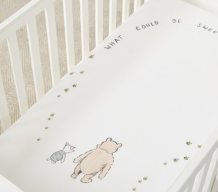Organic Disney Winnie the Pooh Picture Perfect Sentiment Crib Fitted Sheet