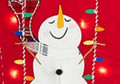 Light Up Swinging Snowman