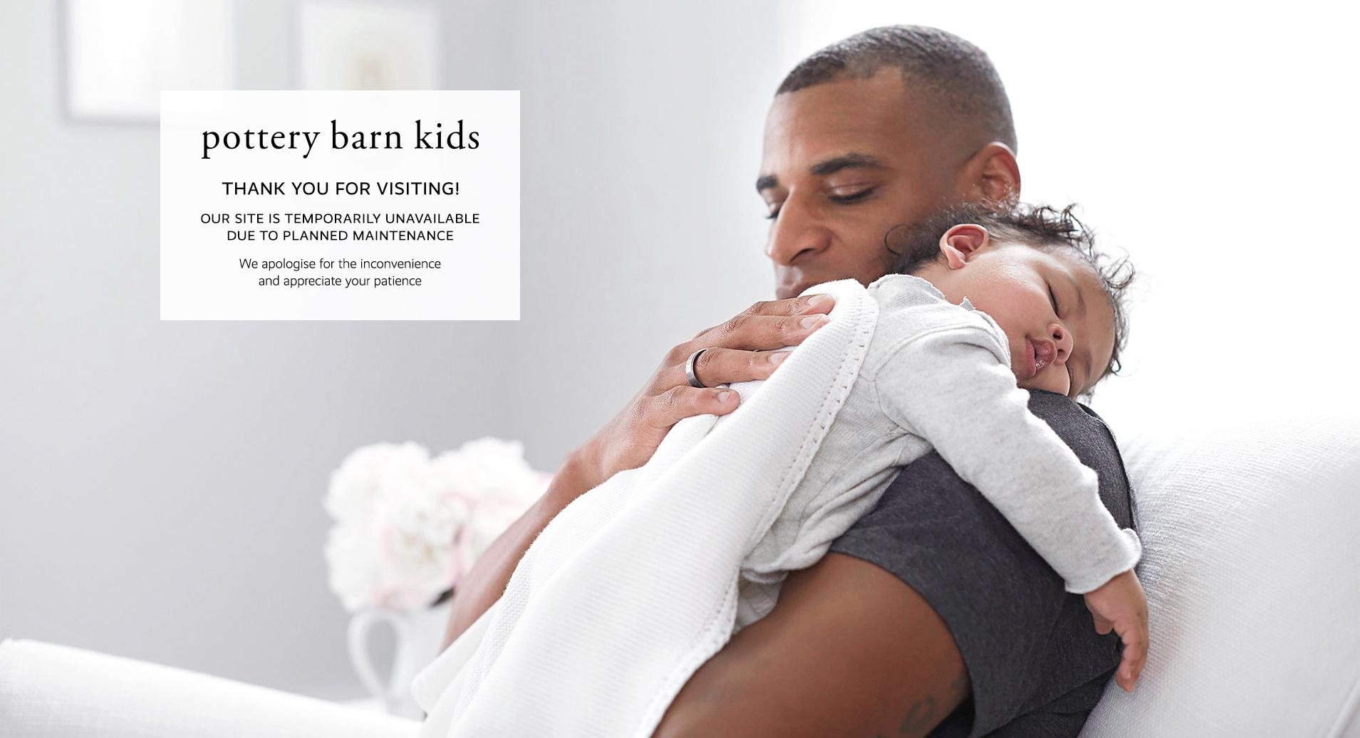 Thank you for visiting pottery barn kids. Our site is temporarily unavailable due to a planned maintenance. We apologize for the inconvenience and appreciate your patience.